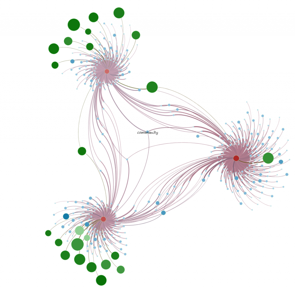 "Topic network around ""Community"""