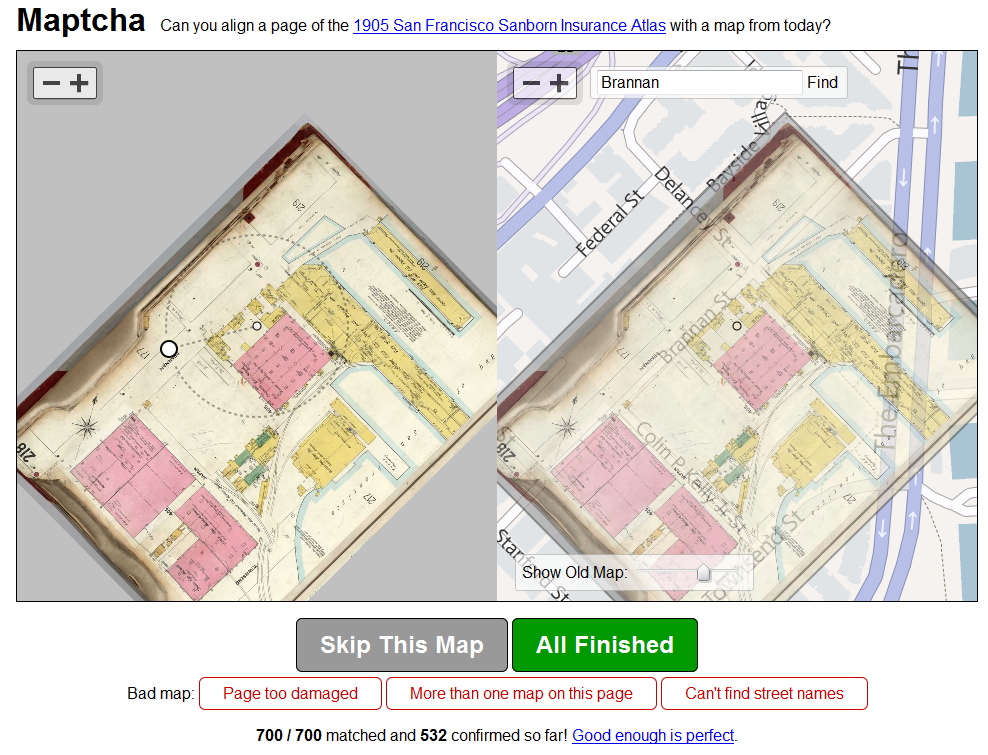 Maptcha Historical Rectification Tool