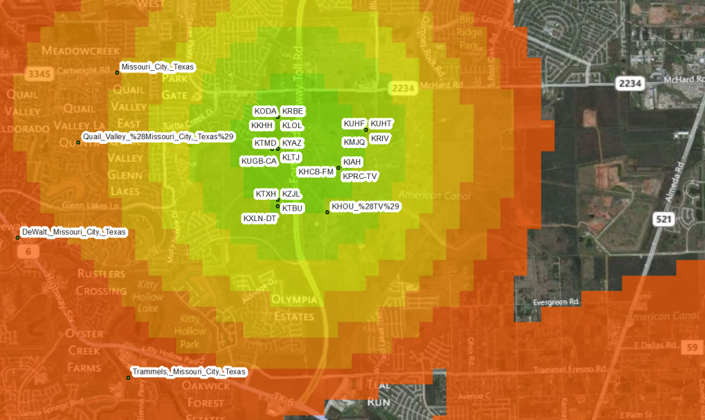 Wikipedia articles about Houston radio stations