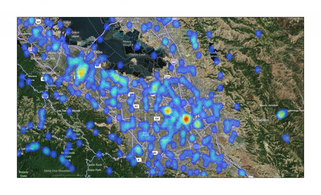 Wikipedia articles located around San Jose