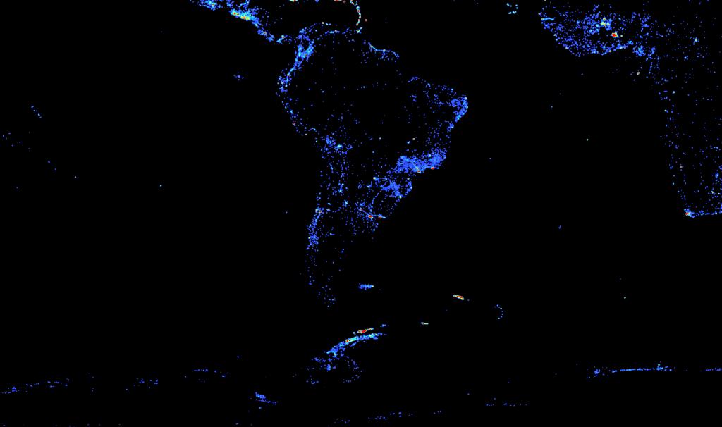 DBpedia Article Density South America, Africa, Antarctica