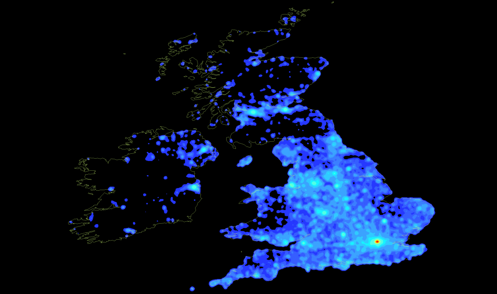 Wikipedia articles located in the UK