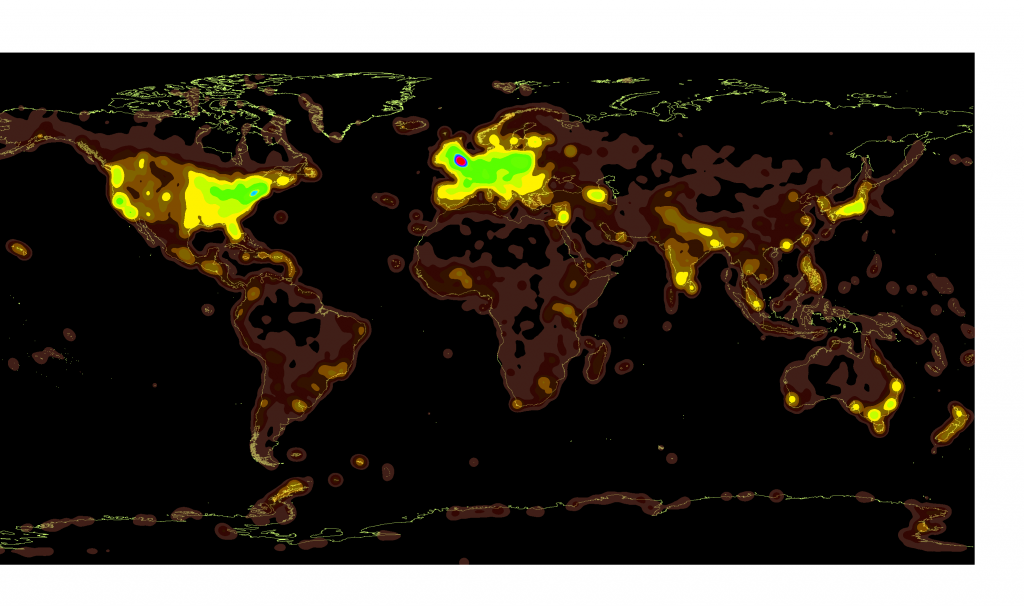 The world as seen from Wikipedia