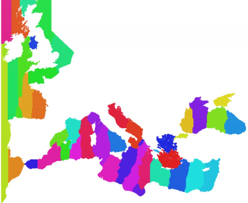 Modules in the Mediterranean