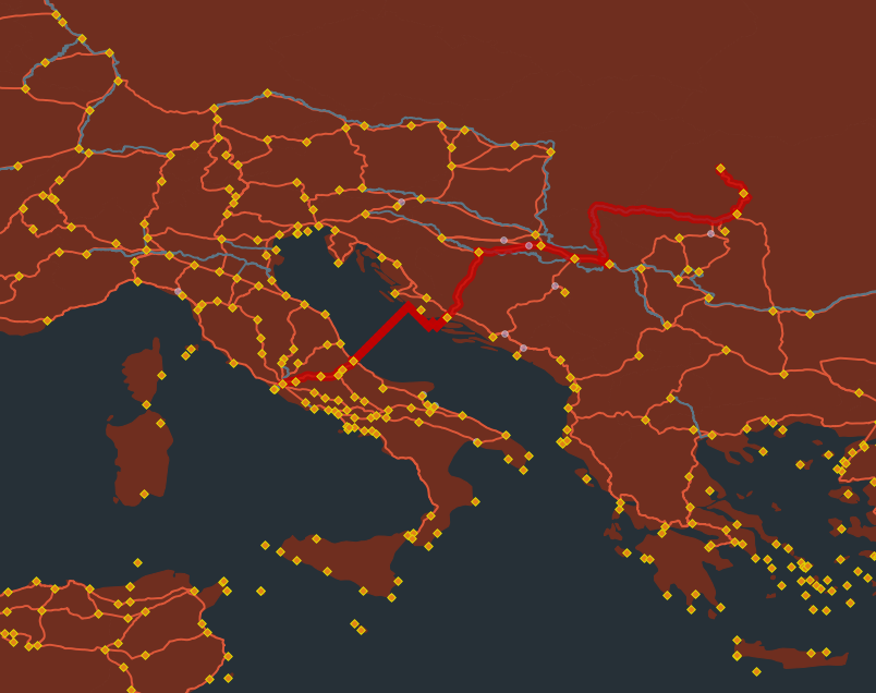 The shortest path from Rome to Porolissum