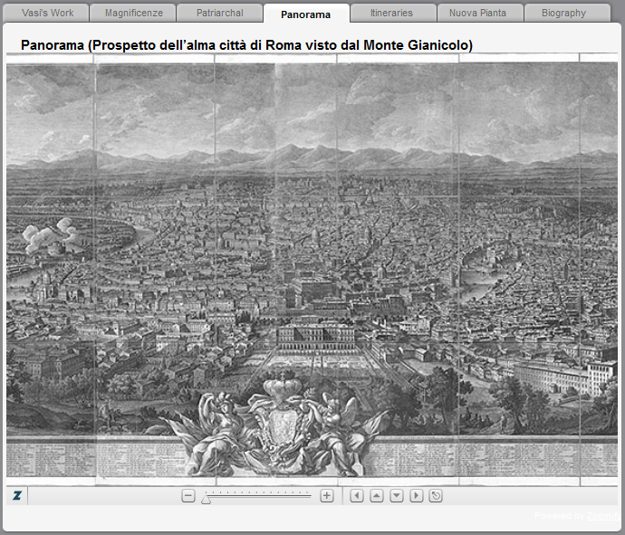 "Vasi's ""Panorama of Rome"" from Tice and Steiner's Imago Urbis"