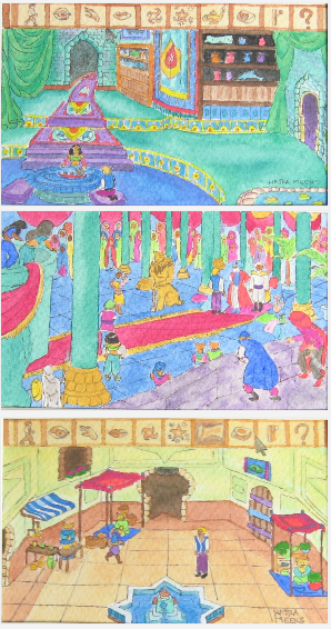 Three Scenes of Quest for Glory by Hajra Meeks